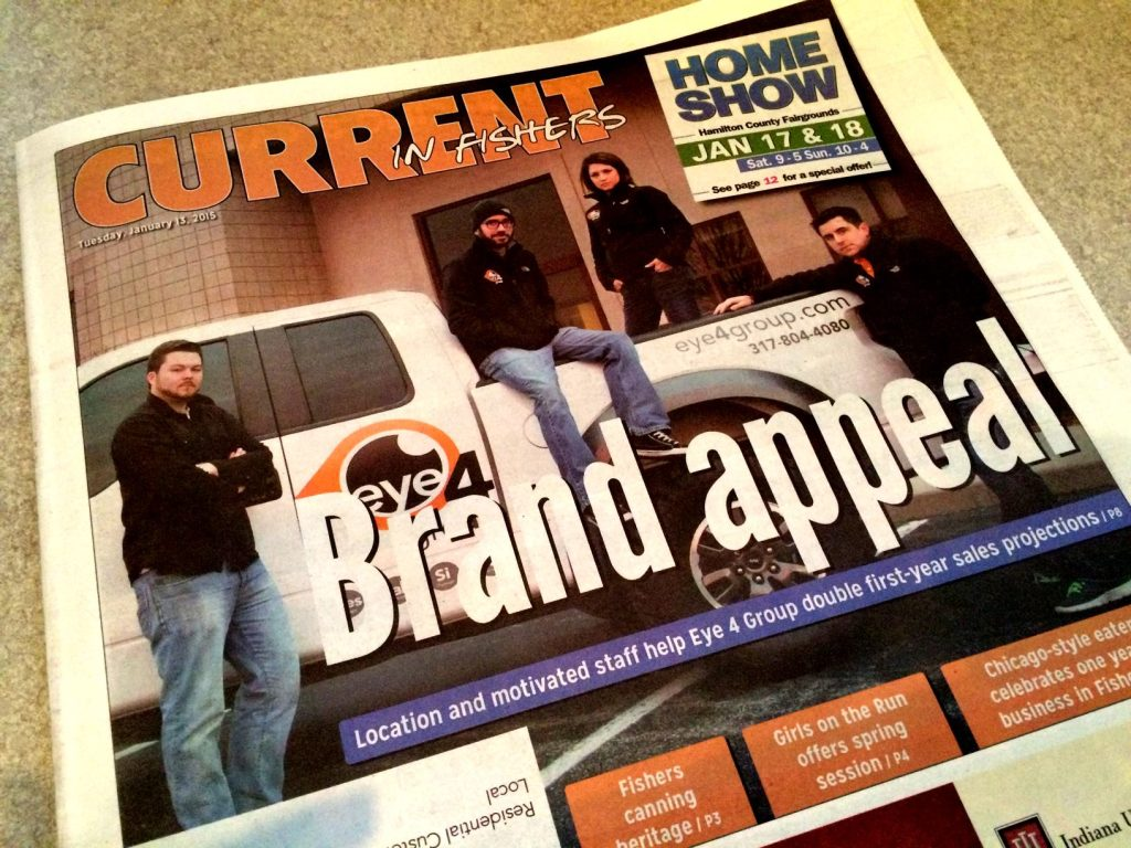 Eye4Group featured in Current in Fishers magazine